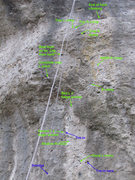 Rock Climbing Photo: SUPER BETA!!! I'm still working on this route, and...