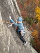 Rock Climbing Photo: Mary's look of terror when she sees the 5.9 fricti...