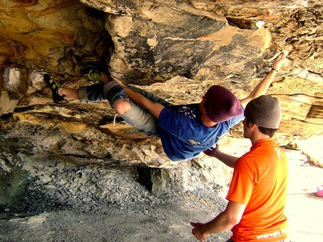 Rock Climbing Photo: Bouldering in New RIver Gorge WV