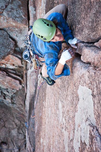 Rock Climbing Photo: Andrew on an Oklahoma classic.