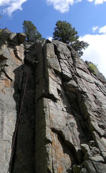 Rock Climbing Photo: The upper crux.