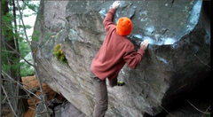 Rock Climbing Photo: Sticking the edge. Cool move.