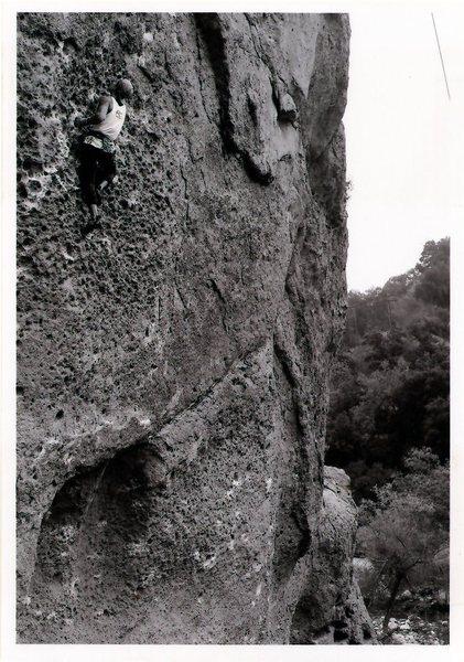 Rock Climbing Photo: Garrett. Ape index.