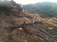 Rock Climbing Photo: Anchors at the top. I took out a small old rusty q...