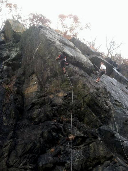 Rock Climbing Photo: Leader is on Wonderama; climber to the right is on...