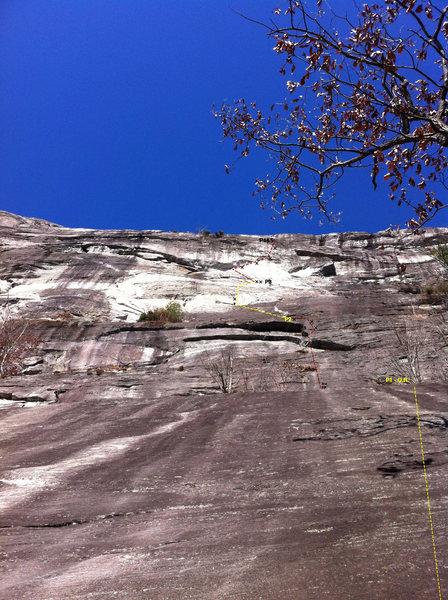 Rock Climbing Photo: Whippin' Boy topo, Whitesides, NC
