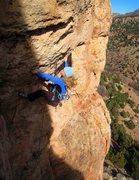 Rock Climbing Photo: Kate warming up in the sun.