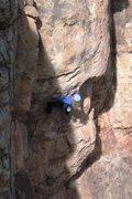 Rock Climbing Photo: Mid-way thru the crux bulge.