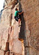 "Rock Climbing Photo: Eyeing a nice mono on ""Spitting Image""."
