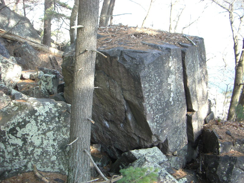 Another view of the boulder.