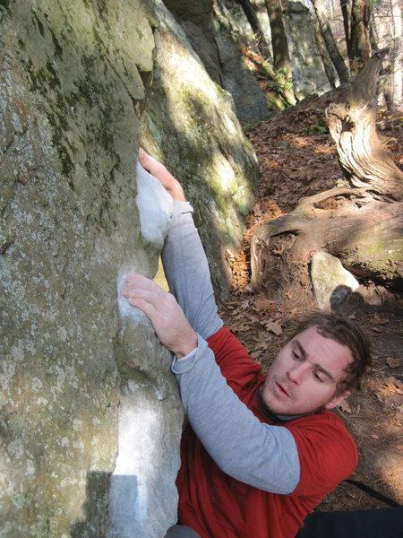 Rock Climbing Photo: Vinny on flash.