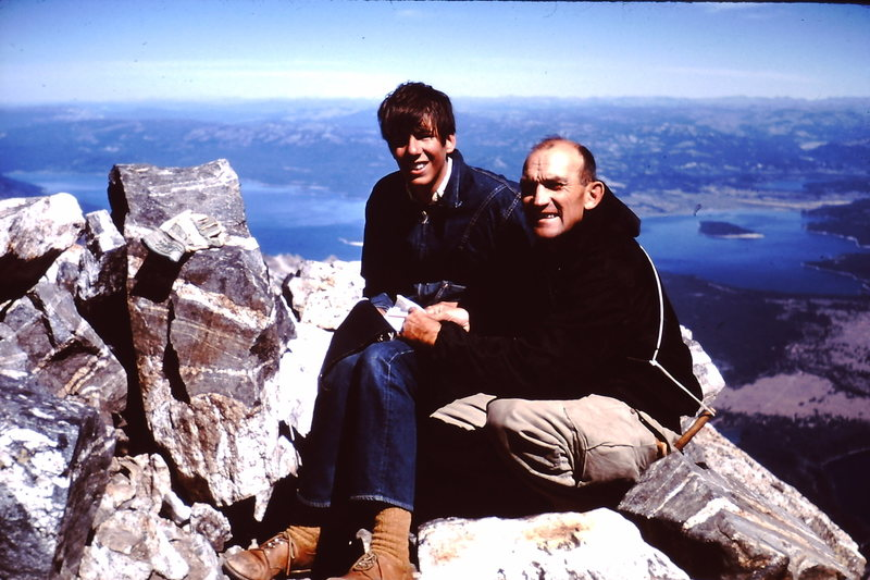 1968:  Don Decker - who taught me to love climbing.  <br> <br> English Lit professor at Ricks College in Rexburg, ID.  <br> <br> Summit of the Grand Teton.  <br> <br> Don was later killed third classing in the Tetons - leaving a wife and nine children.