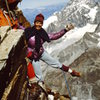 Leslie Miller - Hornli Ridge in '76.  Mismatched gloves repurposed from a garbage can in Zermatt.