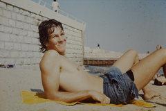 Rock Climbing Photo: Topless beach at Nice, France.  1976