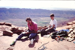 Rock Climbing Photo: Marshall Woodruff Miller - age 9 or 10.  Top of Ca...