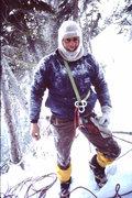 Rock Climbing Photo: Steve Bowen.  Top of Louise Falls, Canada.  1984. ...