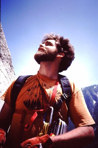 Blair Rich - El Cap (Salathe' Wall) attempt.  Mid 80's