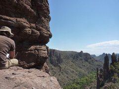 Rock Climbing Photo: Luke looking down into Lower Devils Canyon