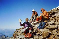Rock Climbing Photo: Summit of Matterhorn.  About 9:00 am.  Celebration...
