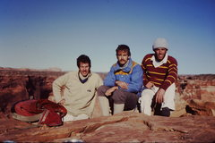 Rock Climbing Photo: An early ascent of Moses North Face.   Late 70's. ...