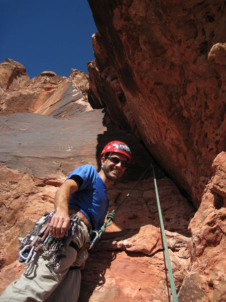Rock Climbing Photo: Jeff about to get into the business on the Haj.  I...