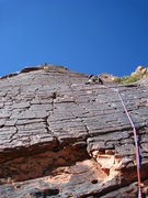 Rock Climbing Photo: Looking up at the amazing pitch 3 and 4.