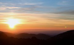 Rock Climbing Photo: Sunrise in the Presidential Range, NH. November 20...