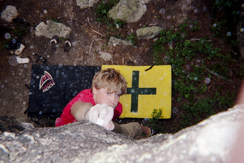 Rock Climbing Photo: Boulder Problem at Wrinkled Rock Campground, SD