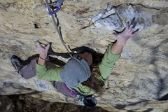 Rock Climbing Photo: One finger on, four more to go...