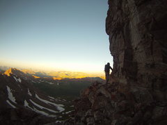 Rock Climbing Photo: Jason Fruh just below the summit of South Maroon. ...