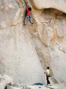 Rock Climbing Photo: Lower Right Ski Track, Joshua Tree