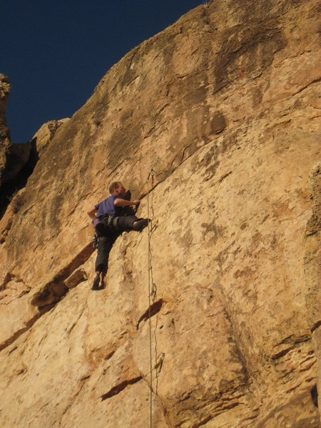 "Rock Climbing Photo: ""Mike"" just below the business on World ..."