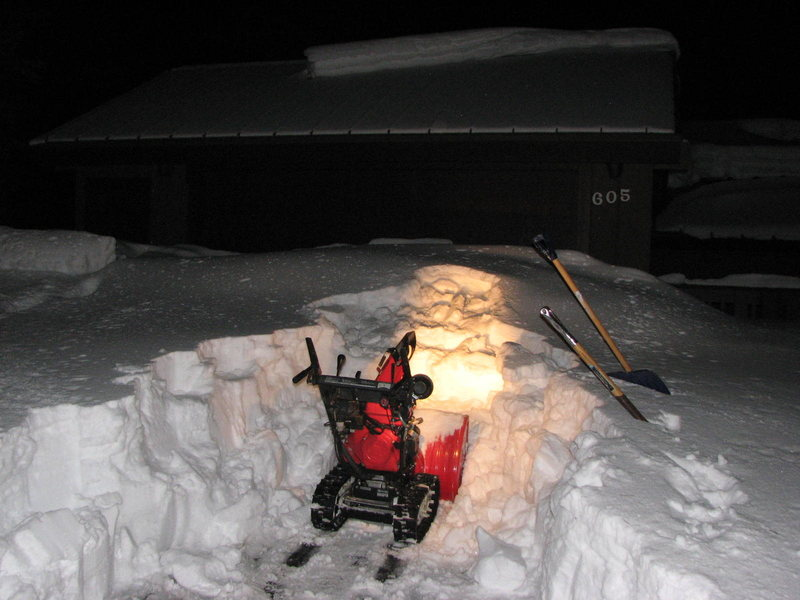 Rock Climbing Photo: Honda snowblowers rule!