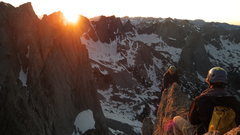 Rock Climbing Photo: Sunset on the crest