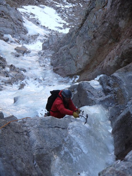 "The third pitch of ""The Road,"" Mt. Evans.  November 19, 2011."