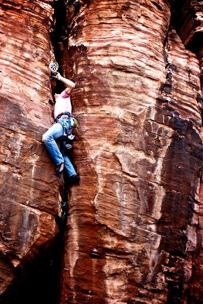 Rock Climbing Photo: Get busy livin'. Andy Hansen out of the business a...