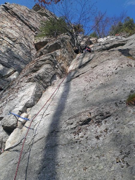 "Looking up ""First Trapps Chimney"" P1"