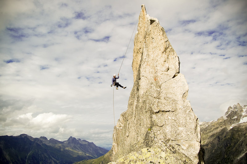 Rock Climbing Photo: Descending the Fiamma