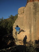 Rock Climbing Photo: Nopinion Arete. The tree was actually a Smooth Bar...