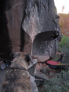Rock Climbing Photo: That's me chicken winging on an end of the day asc...