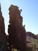 Rock Climbing Photo: Cherub from the north. AMH at the top of Cherubino...