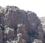 Rock Climbing Photo: Alien Wall center, Glade Wall right, Subalien Wall...