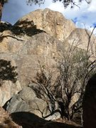 Rock Climbing Photo: Requiem for a Dream (5.9), Holcomb Valley Pinnacle...