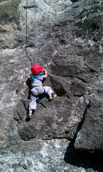 Rock Climbing Photo: My 4 year old
