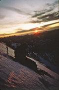 Rock Climbing Photo: David Koch bivy near base of NF Robson 1984.