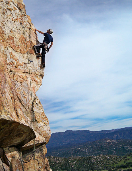 Rock Climbing Photo: Diamond of San Diego, Center Block Pitch (4).  A g...