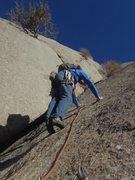 Rock Climbing Photo: Starting up pitch 4.