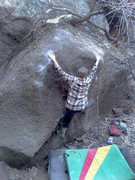 Rock Climbing Photo: Jesse nabs the FA on Chesticles, V5.