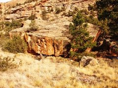 Rock Climbing Photo: Essential Boulder as seen from the second pullout ...