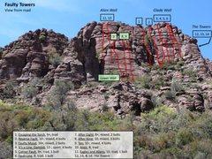 Rock Climbing Photo: Faulty Towers climbs 1